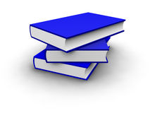 Isolated Stack Coloured Blue Books Stock Photography