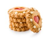 Isolated stack of cookie Royalty Free Stock Photo