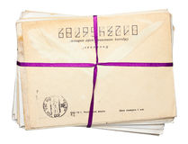 Isolated stack of envelopes Stock Photography
