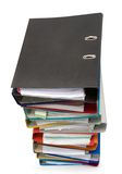 Isolated stack of folders Royalty Free Stock Photo