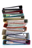 Isolated stack of folders Stock Photo