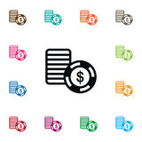 Isolated Stack Icon. Disk  Vector Element Can Be Used For Chip, Stack, Casino Design Concept. Stock Image
