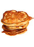 Isolated stack of pancakes Stock Image