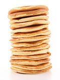 Isolated stack of pancakes Royalty Free Stock Photos