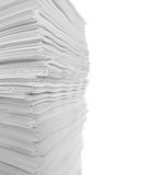 Isolated stack of papers Stock Photography