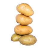 Isolated stack of potatoes on white Royalty Free Stock Photo