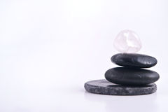 Isolated Stack of Smooth Stones Royalty Free Stock Images