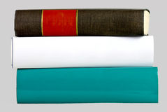 Isolated stack of three books Royalty Free Stock Image