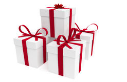Isolated Stacked Presents Royalty Free Stock Images