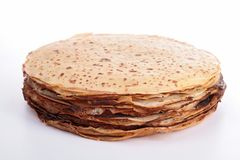 Isolated stakc of crepes Stock Images