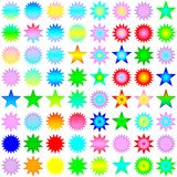 Isolated stars in rainbow colors Stock Photo