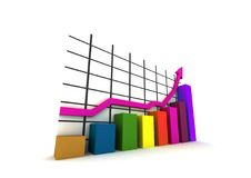 Isolated statistics royalty free stock images