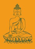 Isolated statue of Buddha Stock Photo