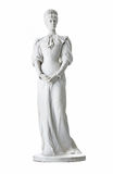 Isolated statue of Empress Elisabeth II from Austria in Corfu at. The Achilleion - over white background royalty free stock photography