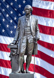 Isolated statue of George Washington. Royalty Free Stock Images