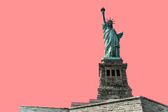 Isolated Statue of Liberty on pink background New York City USA Royalty Free Stock Photography