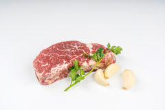Isolated steak Stock Images