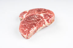 Isolated steak stock image