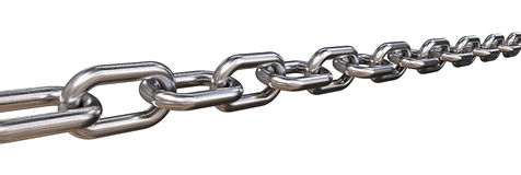 Isolated Steel Chain. Stock Image