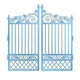 Isolated steel decorated baroque gate vector Royalty Free Stock Image