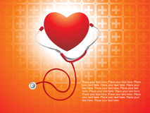 Isolated stethoscope with red heart Stock Image