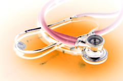 Isolated stethoscope waiting for patients Stock Images