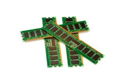 RAM stick of computer random access memory isolate Stock Images