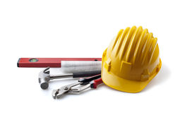 Isolated still life with constructor's tools Royalty Free Stock Image