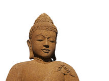 Isolated Stone Buddha with Warm Color Stock Images