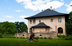 Isolated stone house Royalty Free Stock Photos