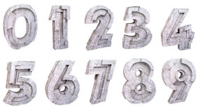 Isolated Stone Numbers Royalty Free Stock Photography