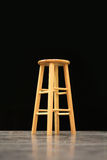 Isolated stool chair on black background Royalty Free Stock Image