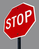 Isolated Stop Sign Stock Photos
