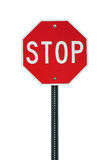 Isolated stop sign Royalty Free Stock Photo