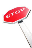 Isolated Stop Sign Stock Images