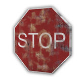 Isolated stop traffic sign Royalty Free Stock Images