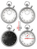 Isolated stopwatches and parts illustration Royalty Free Stock Images