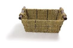 Isolated straw basket Royalty Free Stock Photography