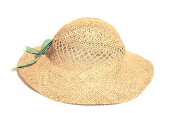 Isolated straw hat Royalty Free Stock Photography