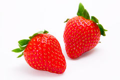 Isolated strawberries. Fresh strawberries isolated on white background Royalty Free Stock Photography