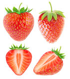Isolated strawberries collection Royalty Free Stock Photography
