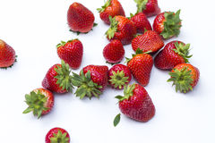 Isolated strawberries. Royalty Free Stock Image