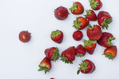 Isolated strawberries. Stock Photos