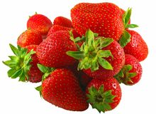Isolated Strawberries Macro Royalty Free Stock Image