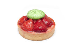 Isolated strawberries tart Stock Photo