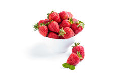 Isolated strawberry with berries and raspberries on white backgr Royalty Free Stock Photos