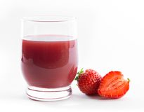 Isolated strawberry juice Stock Image