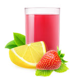 Isolated strawberry lemonade Stock Photo