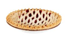 Isolated strawberry pie Royalty Free Stock Photography