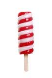 Isolated strawberry vanilla swirl popsicle Stock Photography